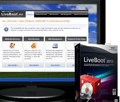 wondershare liveboot boot cd/usb